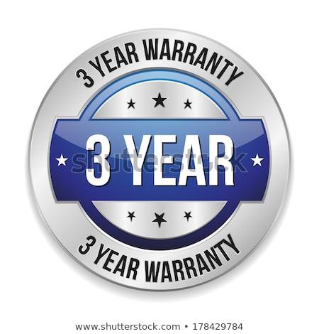 3 Years Warranty Blue Vector Icon Button Stock photo © rizwanali3d