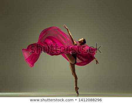 siluet · çekici · bayan · dans · heyecanla · şehvetli - stok fotoğraf © pressmaster