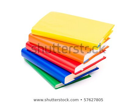 Four stacked paperback books background Stock photo © njnightsky