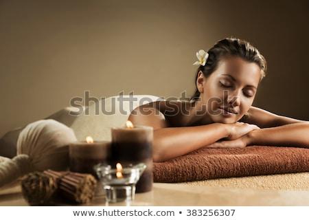 hermosa · perfecto · cara · toalla · piel - foto stock © urchenkojulia