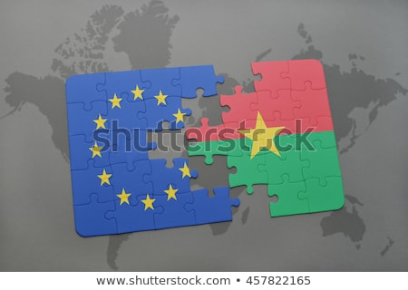 european union and burkina faso flags in puzzle stock photo © istanbul2009