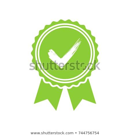 Medal Green Vector Icon Design stock photo © rizwanali3d