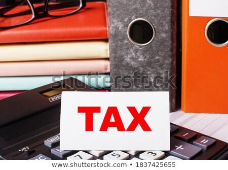 Kırmızı ofis Klasör masaüstü Stok fotoğraf © tashatuvango