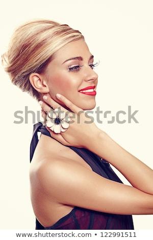 женщину · один · коктейль · кольца · фотография · красивая · женщина - Сток-фото © dolgachov
