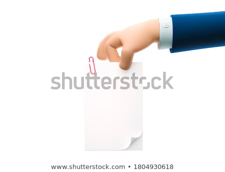 3d man holding file in hands concept Stock photo © nithin_abraham