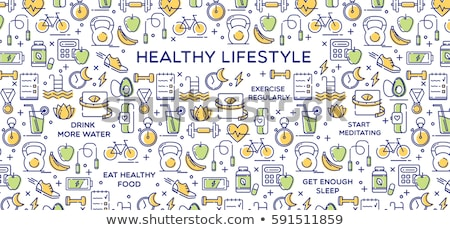 healthy lifestyle background with apple Stock photo © netkov1