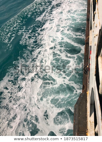 wake of a ferry boat in thailand stock photo © master1305