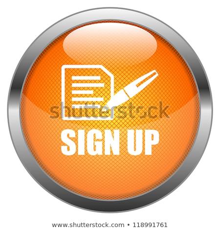 Log Out Golden Vector Icon Button Stock photo © rizwanali3d