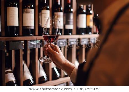 Pincér borospince ázsiai üveg bor vektor Stock fotó © RAStudio
