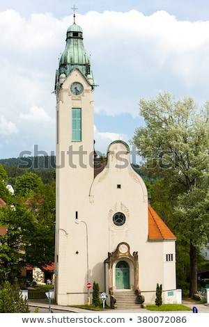 the church of the exaltation of the holy cross jablonec nad nis stock photo © phbcz