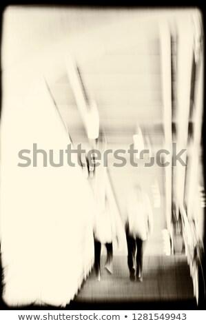 Zdjęcia stock: Korytarz · tłum · streszczenie · miasta · ziemi · grupy