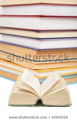 big stack of books and opened small book 2 stock photo © paha_l