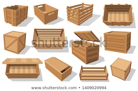 Wooden box for fruits and vegetables keeping Stock photo © LoopAll