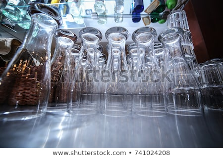 Empty glasses ready for use in the bar Stock photo © master1305