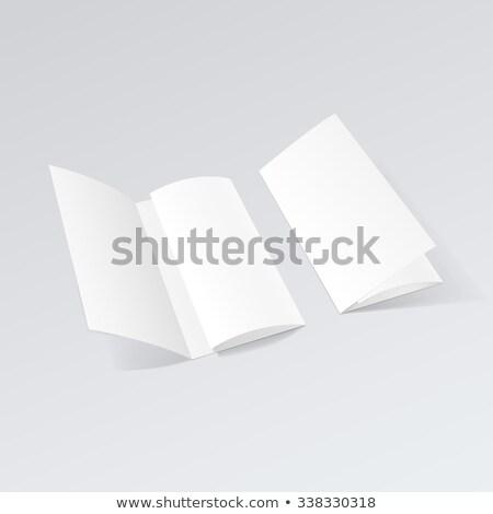 Open bianco piegato flyer up vettore Foto d'archivio © Akhilesh