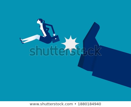 Giant person stepping on a little businesswoman concept Stock photo © ra2studio