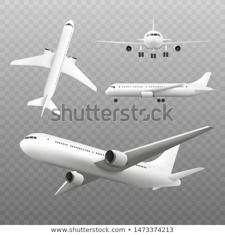modern jet airliner Stock photo © tracer