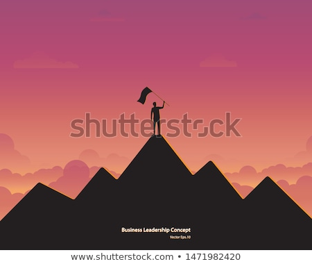 vector leadership or competition concept with climbing plants Stock photo © freesoulproduction