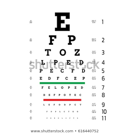vector Snellen eye test chart Stock photo © m_pavlov