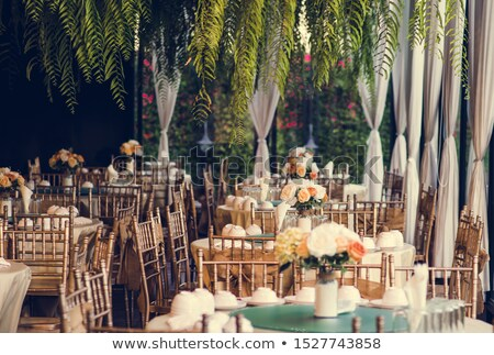 dining table arrangements Stock photo © get4net
