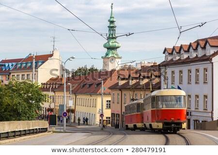 old tram in Bratislava, Slovakia Stock photo © phbcz