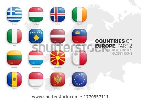 Tér ikon zászló Litvánia 3d illusztráció izolált Stock fotó © MikhailMishchenko