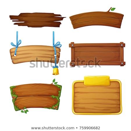 Groene boord houten frame witte geïsoleerd Stockfoto © asturianu