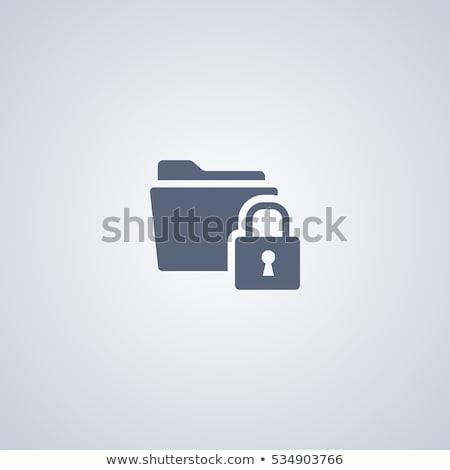 Senha proteção ícone negócio cinza botão Foto stock © WaD