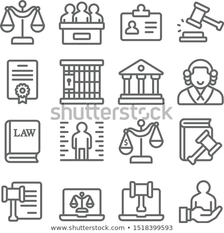 line circle law and crime icons set stock photo © anna_leni