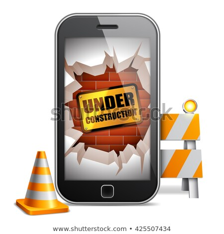 mobile phone under construction stock photo © timurock