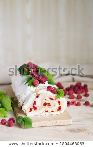 Raspberry and mascarpone dessert Stock photo © Digifoodstock
