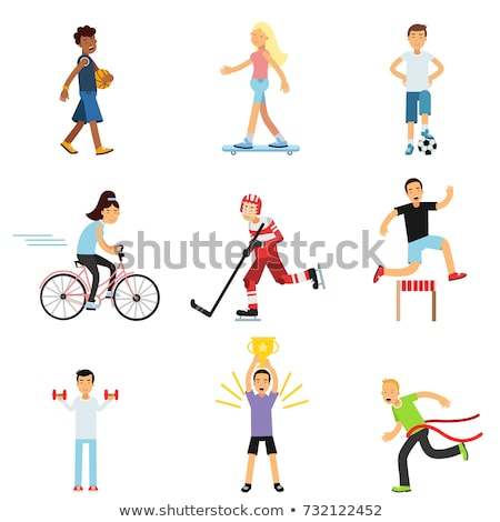 Teenagers engaging in different activities Stock photo © bluering