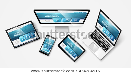 Web design moderne sjabloon monitor web Stockfoto © -Baks-