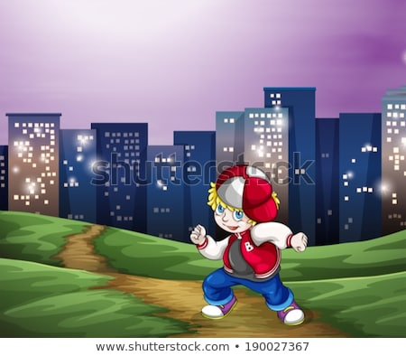A hiphop dancer near the tall buildings Stock photo © bluering