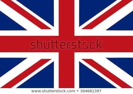 Anglia zászló közelkép angol zászló Egyesült Királyság kereszt Stock fotó © IvicaNS
