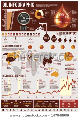 Infochart showing the planet Earth Stock photo © bluering