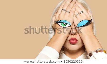Szem lány eredeti illusztráció nő meztelen Stock fotó © paulfleet