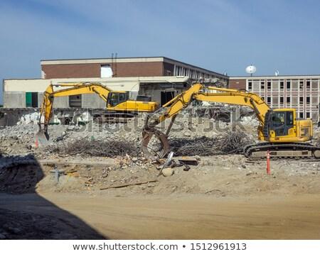 Yıkım eski lise Bina yırtılmış aşağı Stok fotoğraf © brianguest