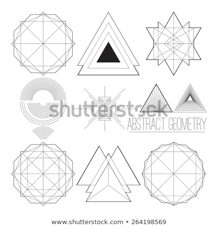 Simple abstract geometric figure with polygon, handwork font Stock photo © Vanzyst