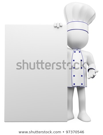 3d people - man, person and blank paper. Chef  Stock photo © orla