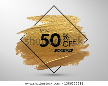 black friday sale poster design with brush paint effect and yell Stock photo © SArts