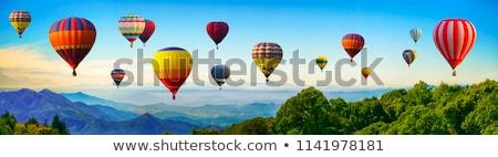 çocuklar · balon · gökyüzü · örnek · kız · mutlu - stok fotoğraf © bluering