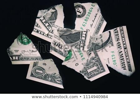 Over ons papier tekst achter gescheurd pakpapier Stockfoto © ivelin