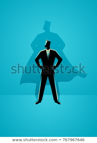 businessman silhouette in super power pose Stock photo © Istanbul2009