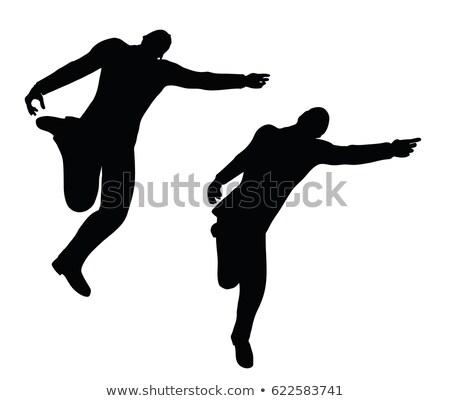 Geschäftsmann zurück darstellen weiß eps 10 Stock foto © Istanbul2009