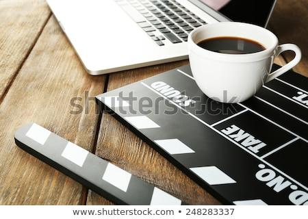 Stock fotó: Kávé · mozi · kávé · forma · öreg · film