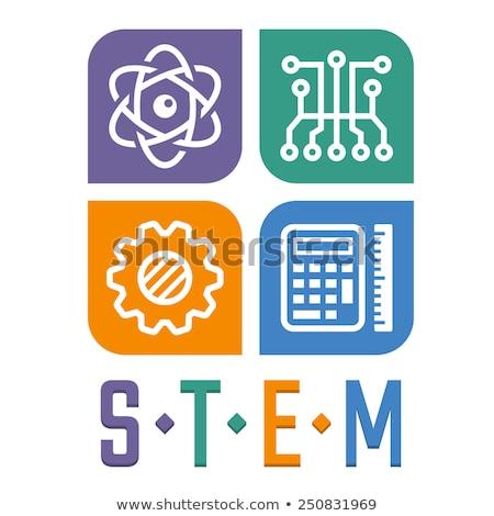 стебель образование плакат иконки совета иллюстрация Сток-фото © bluering