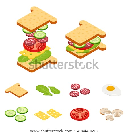Vector set of isometric burgers and sandwiches. Stock photo © curiosity