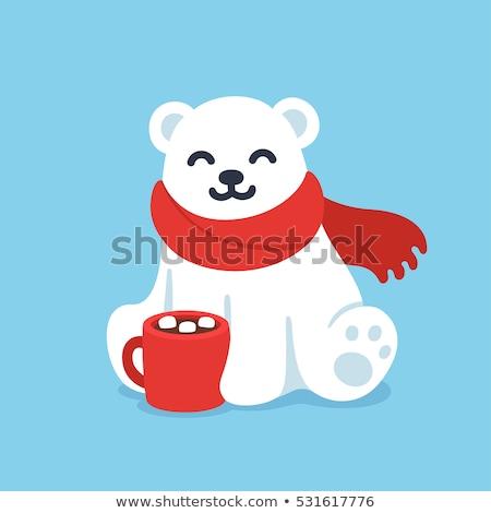 Vettore Natale orso polare Cup cartoon stile Foto d'archivio © curiosity