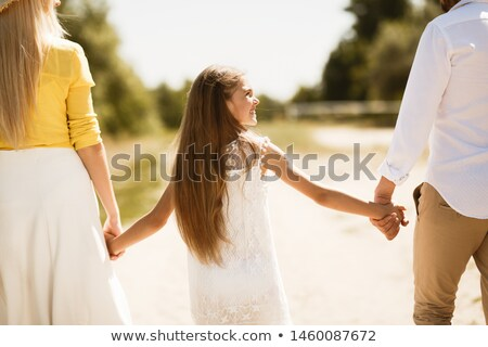Mom with preteen child walking outdoor Stock photo © tekso